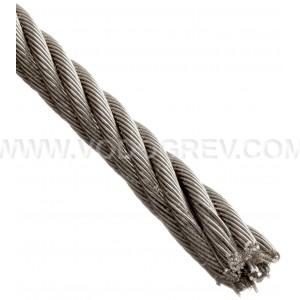 Трос стальной 5мм (нержавеющая сталь)